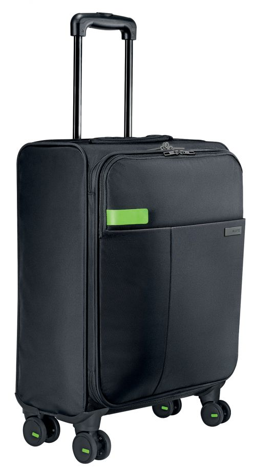 Leitz Complete 4-wheel Hand Luggage Trolley Smart Traveller Black