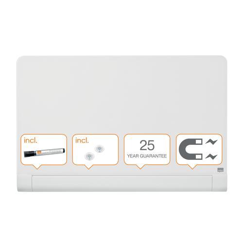 Nobo Impression Pro Glass Mag Whiteboard 1000x560mm White