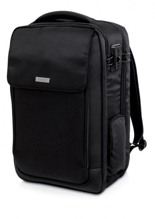 "Kensington SecureTrek Overnight Backpack 17"" Black"