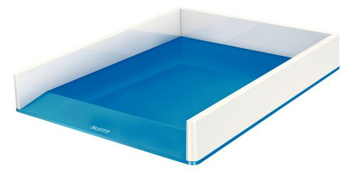 Leitz WOW Duo Colour Letter Tray A4 Blue 53611001 (PK1)