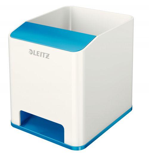 Leitz WOW Duo Colour Sound Pen Holder Blue 536310036 (PK1)