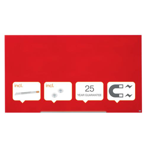 Nobo Diamond Glass Red Board 1883x1059mm