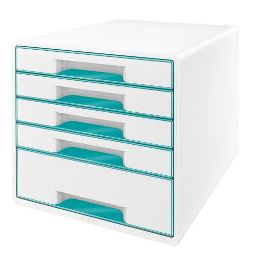 Leitzwow Cube 5 Drawer Ice Blue