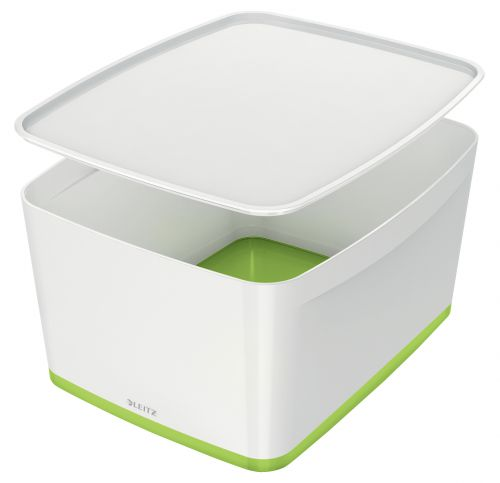 Leitz MyBox Large with Lid WOW White Green