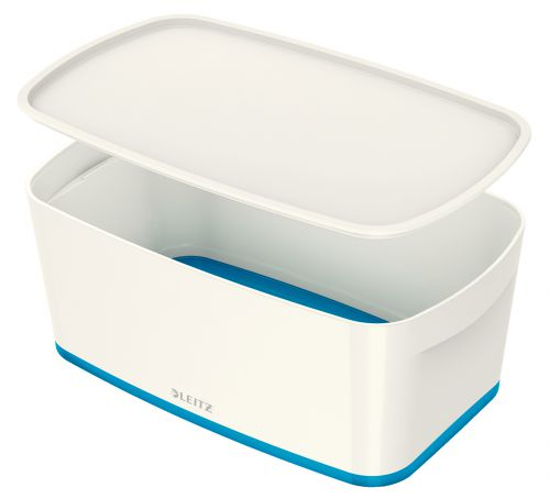 Leitz MyBox Small with Lid WOW White Blue
