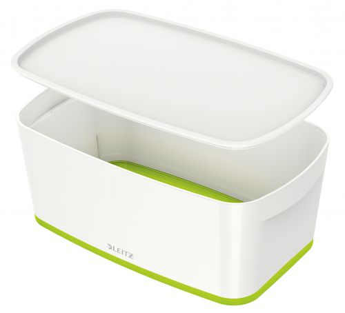 Leitz MyBox Small with Lid WOW White Green
