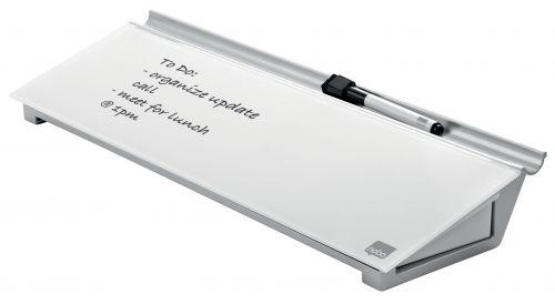 Nobo Diamond Glass Personal Desktop Panel (Dimensions: W460 x D150 x H60mm) 1905174