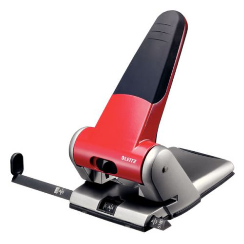 Leitz Heavy Duty Hole Punch 65 sheets. Red
