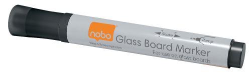 Nobo Glassboard Markers Black 1905322 [Pack 4]