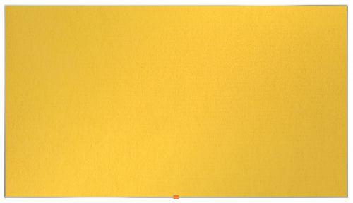 Nobo Widescreen 85in Felt Yellow Noticeboard