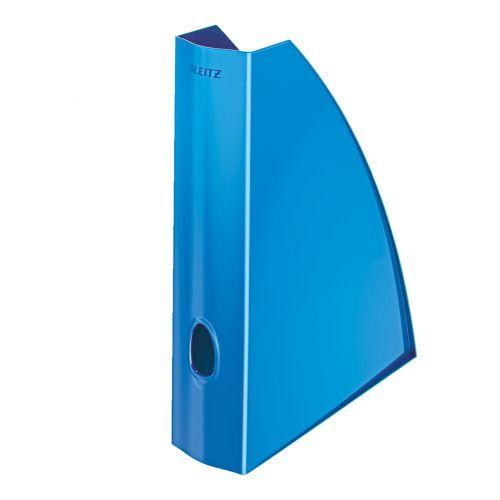 Leitz WOW Magazine File A4 Blue Metallic