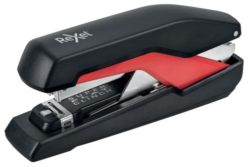 Rexel Supreme Omnipress Full Strip Stapler S060 Black/Red