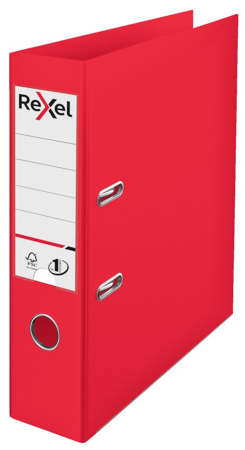 Rexel Choices Lever Arch File Polypropylene A4 75mm Spine Width Red (Pack 10)