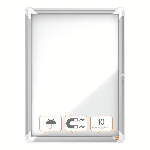 Nobo Premium Plus Outdoor Magnetic Lockable Notice Board 4xA4 1902577 Glazed Notice Boards NB06403