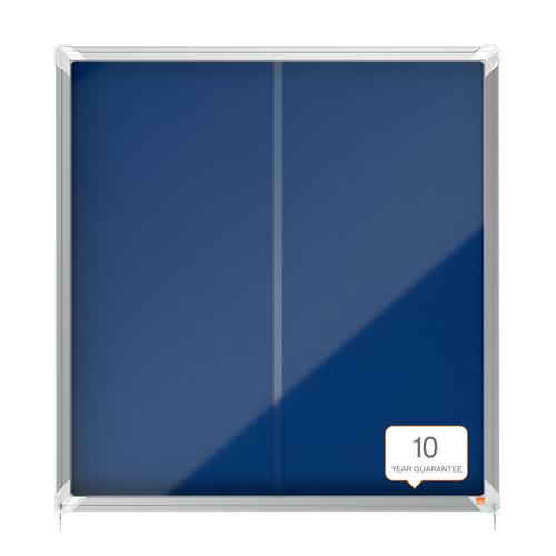 Nobo Premium Plus Felt Lockable Notice Board 12xA4 1902566 Glazed Notice Boards NB06379