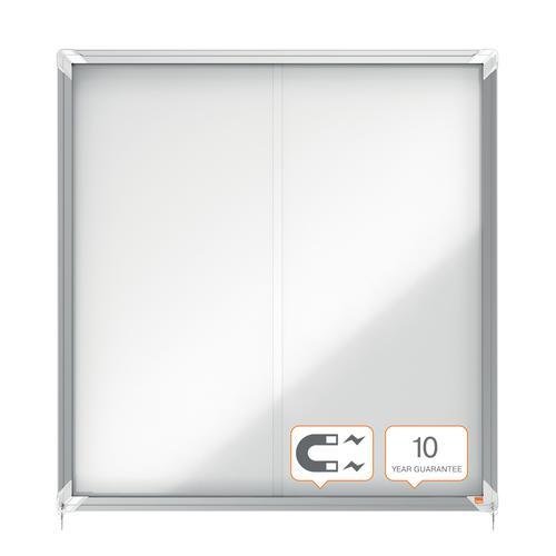 Nobo Premium Plus Magnetic Lockable Notice Board 12xA4 1902570 Glazed Notice Boards NB06376