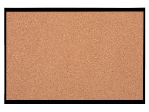 Nobo Small Cork Notice Board with Black Frame 585x430mm