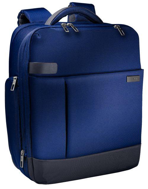 """Leitz Complete 15.6"""" Backpack Smart Traveller Titan Blue"""