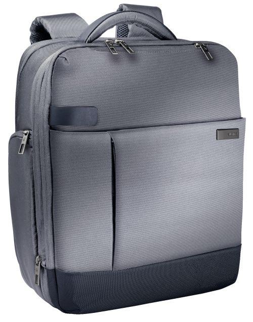 """Leitz Complete 15.6"""" Backpack Smart Traveller Silver"""