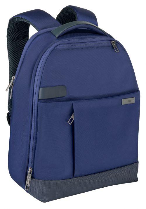 """Leitz Complete 13.3"""" Backpack Smart Traveller Titan Blue"""