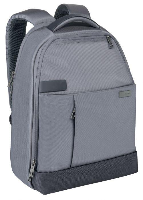"""Leitz Complete 13.3"""" Backpack Smart Traveller Silver"""