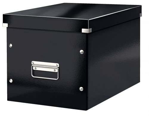 Leitz WOW Click & Store Cube Large Storage Box, Black.