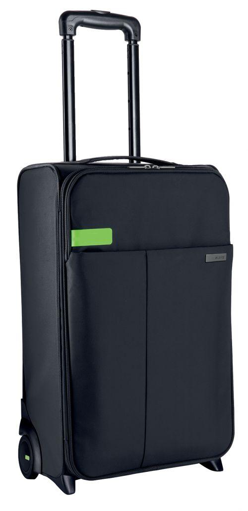 Leitz Complete 2-wheel Hand Luggage Trolley Smart Traveller Black