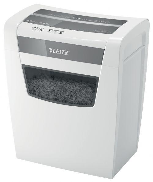 Leitz IQ Home Office Paper Shredder. 10 sheets. 23l bin. P4 cross cut. White