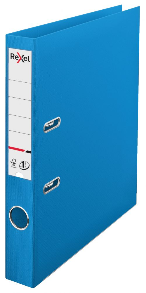 Rexel A4 Lever Arch File; Blue; 50mm Spine Width; Choices No1 Power - Outer carton of 10