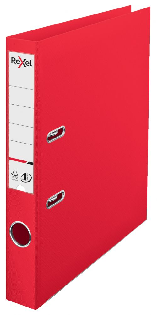 Rexel A4 Lever Arch File; Red; 50mm Spine Width; Choices No1 Power - Outer carton of 10