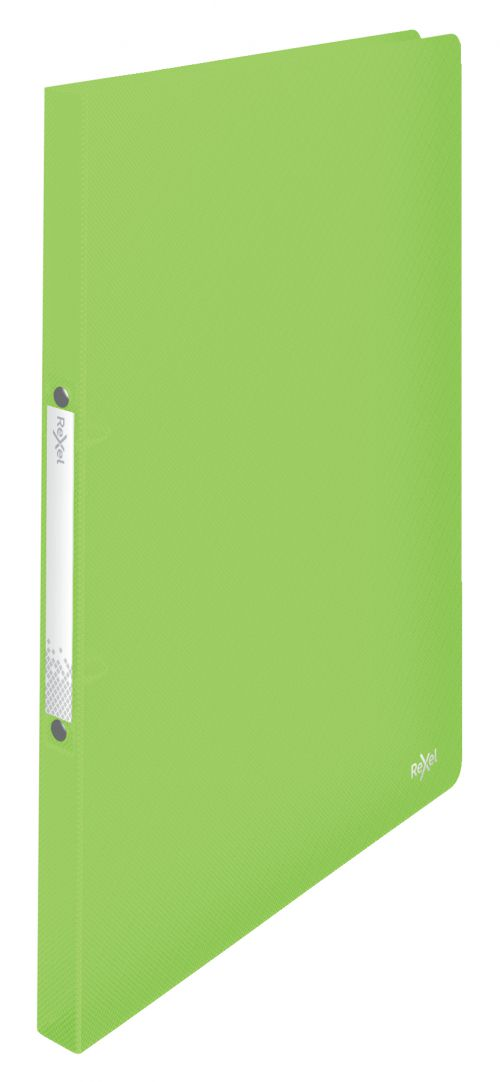 Rexel A4 Ring Binder; Green; 16mm 2 O-Ring Diameter; Choices - Outer carton of 10