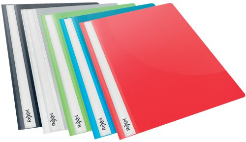Rexel Choices Report File, A4, 160 Sheet Capacity, Assorted Colours (Pack 25)