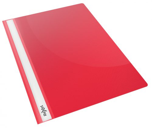 Rexel Choices Report File, A4, 160 Sheet Capacity, Red (Pack 25)