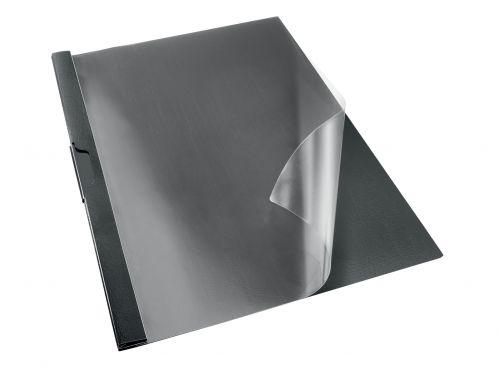 Rexel Choices Clip File, A4, 30 Sheet Capacity, Black - Outer carton of 25