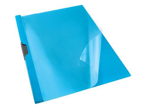 Rexel Choices Clip File, A4, 30 Sheet Capacity, Blue - Outer carton of 25