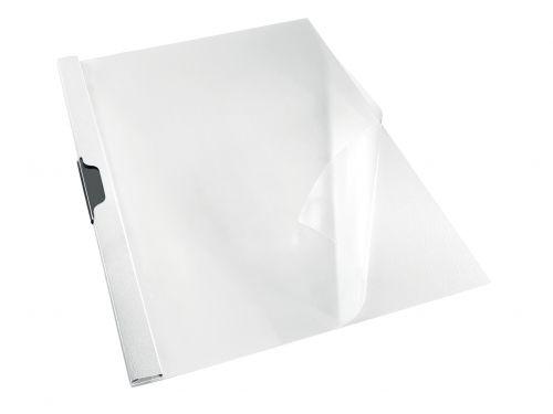 Rexel Choices Clip File, A4, 30 Sheet Capacity, White - Outer carton of 25