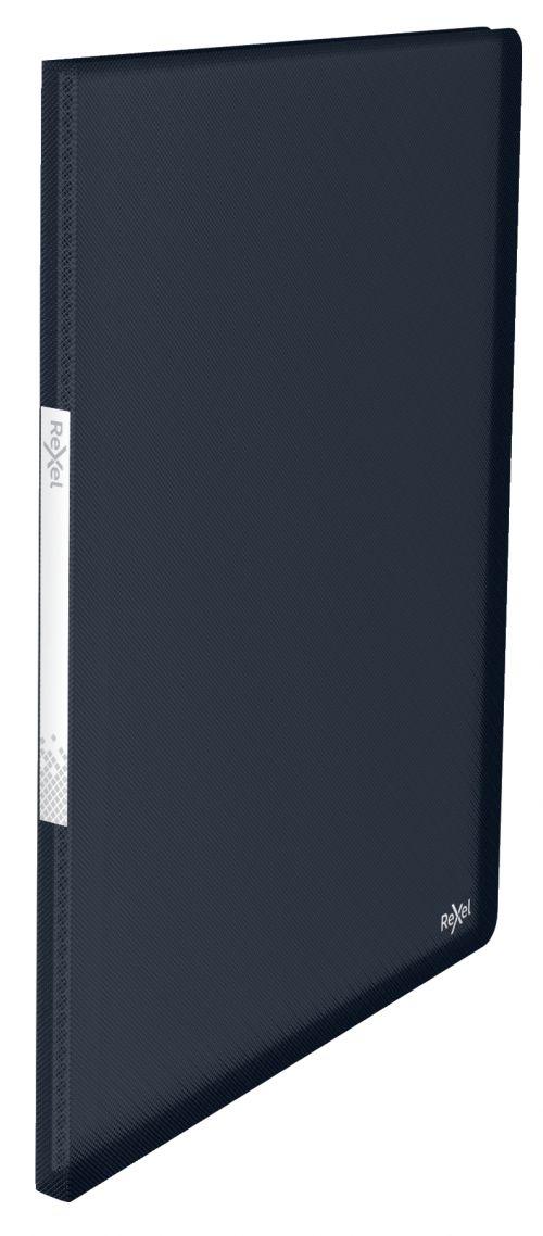 Rexel Choices Translucent Display Book, A4, 20 Pockets, 40 Sheet Capacity, Black - Outer carton of 10