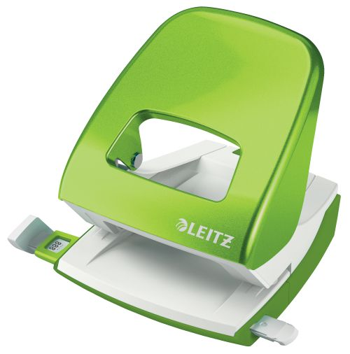 Leitz New NeXXt WOW Metal Office Hole Punch 30sh Green