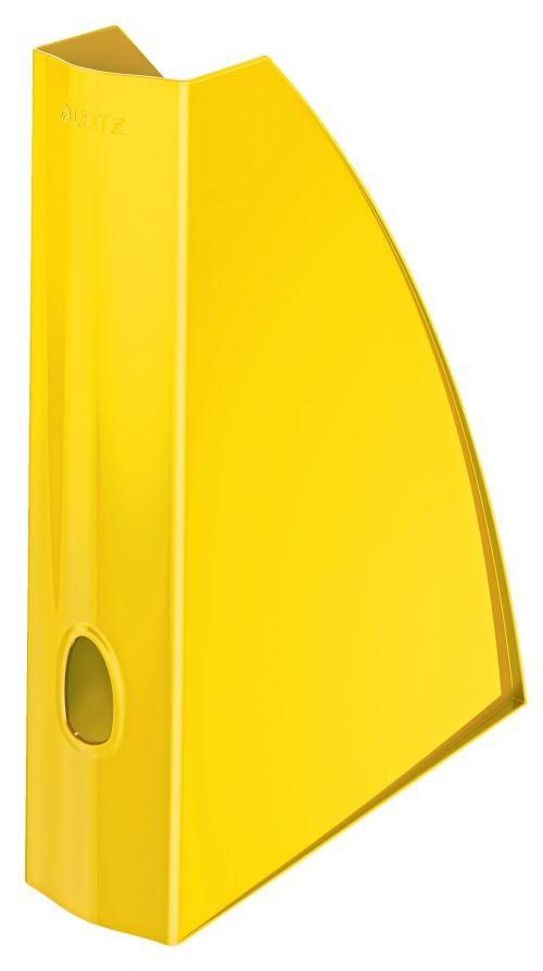 Leitz WOW Magazine File.  With thumbhole.  A4. Yellow.