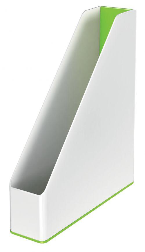 Leitz WOW Dual Colour Magazine File A4 White/Green