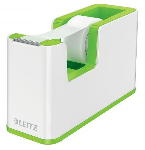 Leitz WOW Dual Colour Tape Dispenser for 19mm Tapes White/Green 53641054