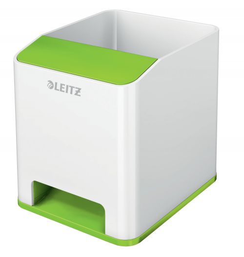 Leitz WOW Dual Colour Sound Pen Holder White/Green