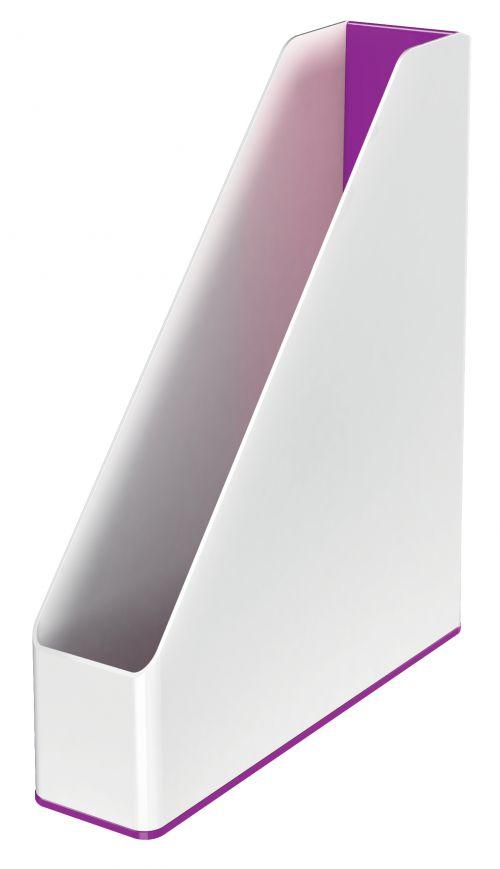 Leitz WOW Magazine File Dual Colour. A4. White/purple