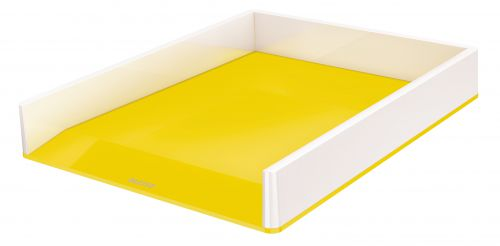 Leitz WOW Letter Tray Dual Colour White/Yellow 53611016