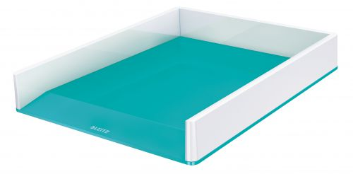 Leitz WOW Letter Tray Dual Colour. A4. White/ice blue