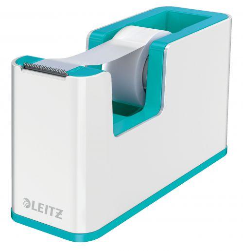 Leitz WOW Dual Colour Tape Dispenser & Tape White/Ice Blue 53641051