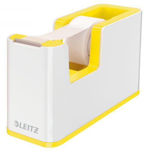 Leitz Tape Dispenser WOW Duo Colour White/Yellow