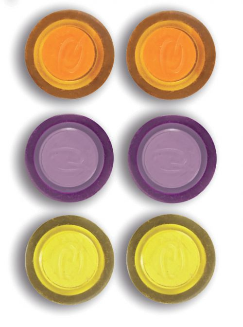 Rexel Assorted Colours Magnets (Pack 6)