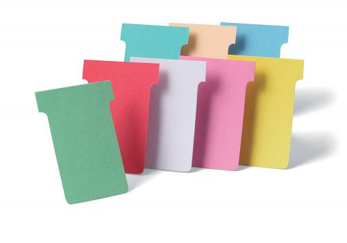 Nobo T-Cards Size 1 Rose (Pack 100) - Outer carton of 5