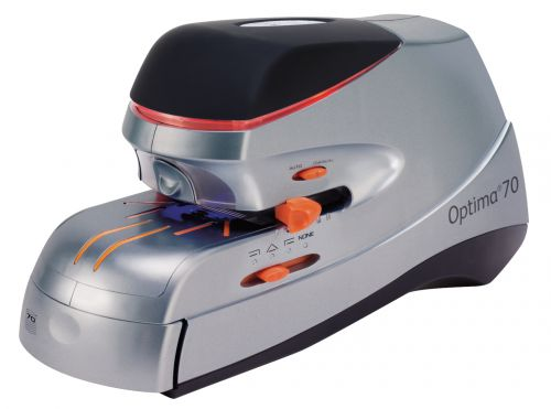 Rexel Optima 70 Electric Stapler, 70 Sheet Capacity, Includes Staples, Silver and Black, 2102354